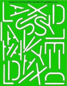 British Dyslexia Association Poster Designed By Artist Paul Milton Copyright(c)2015-