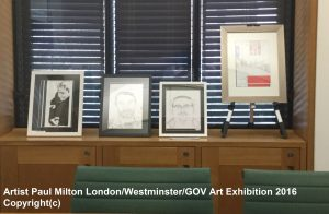 Artist Paul Milton London Westminster Art Exhibition Dyslexia Awareness Week 2016