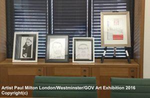 Artist Paul Milton London Westminster Art Exhibition Dyslexia Awareness Week 2016